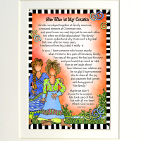 """She Who is My Cousin – 8 x 10 """"Gifty"""" Art"""