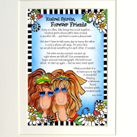 """Kindred Spirits, Forever Friends (with Story) – 8 x 10 """"Gifty"""" Art"""