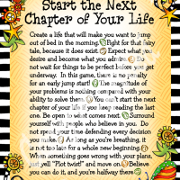"Wonderful Wacky Words to Start the Next Chapter of Your Life – 8 x 10 ""Gifty"" Art"