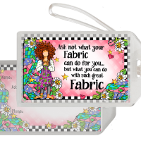 Ask not what your Fabric can do for you… but what you can do with such great Fabric! – Bag Tag