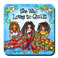 She Who Loves to Quilt – Coaster