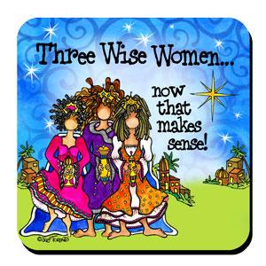 three wise women christmas coaster