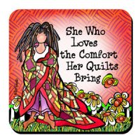 She Who Loves the Comfort Her Quilt Brings – Coaster