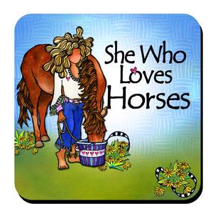 She who loves Horses coaster