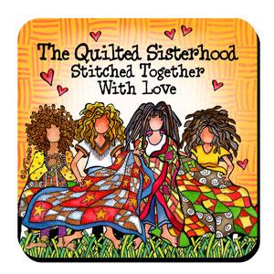 Quilted Sisterhood coaster