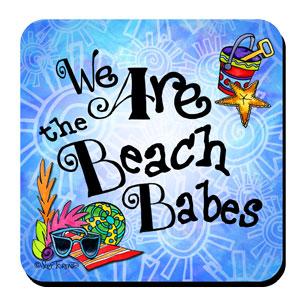 beach babes coaster