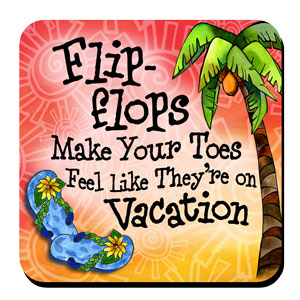 flip flop vacation toes coaster