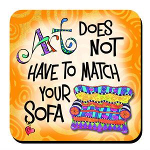 Art NOT matching you Sofa coaster