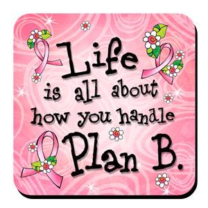 Plan B Pink Ribbon Coaster