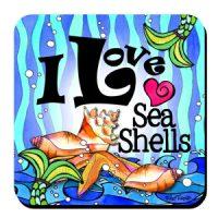 I Love Sea Shells (Divas of the Deep) – Coaster