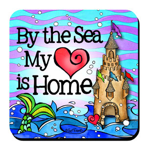 Divas of the Deep By the Sea My Heart is Home coaster