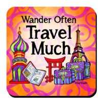 She Who Loves to Travel – (w FREE Coaster) Stainless Steel Tumbler