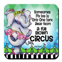 Sometimes My life is Only One tent away from a full-blown Circus – (w FREE Coaster) Stainless Steel Tumbler