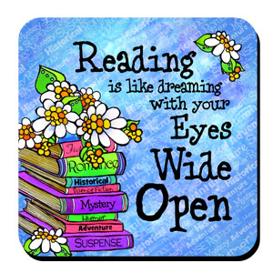 Reading is like dreaming coaster