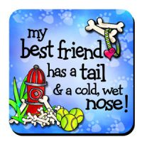 My best friend has a tail & a cold, wet nose! – (w FREE Coaster) Stainless Steel Tumbler