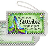 When you Stumble make it part of the Dance (Irish/Celtic) – Bag Tag