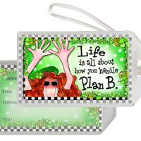 Life is all about how you handle Plan B (Irish/Celtic) – Bag Tag
