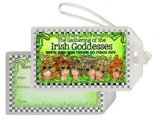 Irish Goddesses Bag Tag