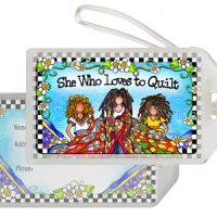 She Who Loves to Quilt – Bag Tag