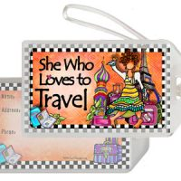 She Who Loves to Travel – Bag Tag
