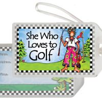 She Who Loves to Golf – Bag Tag