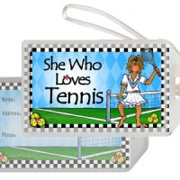 She Who Loves Tennis – Bag Tag