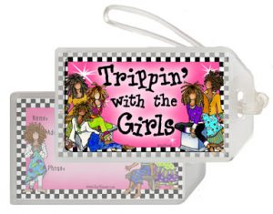 trippin - bag tag