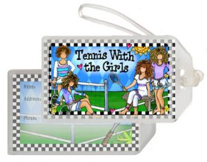 Tennis with Girls - Bag Tag