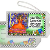 She Who Loves the Artistry of Quilting – Bag Tag