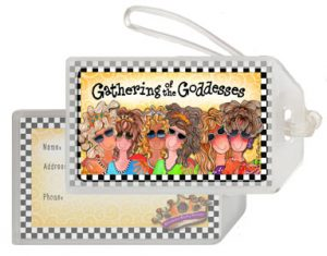 Gathering of the Goddesses - bag tag