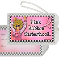 Pink Ribbon Sisterhood – Bag Tag