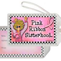 Pink Ribbon Sisterhood – Bag Tag