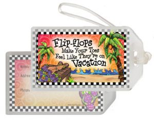 Vacation Toes - bag Tag