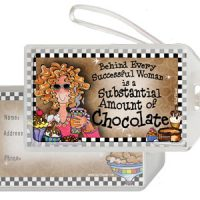 Behind Every Successful Woman is a Substantial Amount of Chocolate – Bag Tag