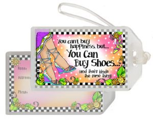 Happiness Shoes - bag tag