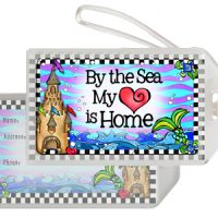 By the Sea My Heart is Home (Divas of the Deep) – Bag Tag