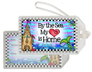 Sea is Home bag tag