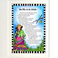 "She Who is an Artist – 8 x 10 Matted ""Gifty"" Art Print"