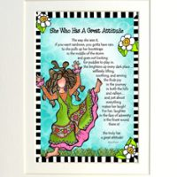 "She Who has a Great Attitude – 8 x 10 Matted ""Gifty"" Art Print"