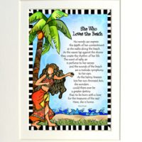 "She Who Loves the Beach – 8 x 10 Matted ""Gifty"" Art Print"