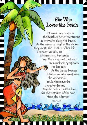 Loves the Beach art print