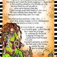 """She Who Loves Her Cat – 8 x 10 Matted """"Gifty"""" Art Print"""