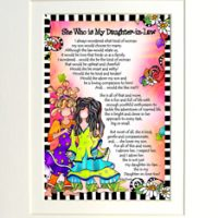 "She Who is My Daughter In Law – 8 x 10 Matted ""Gifty"" Art Print"