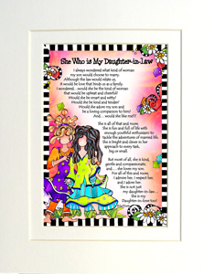 Daughter in law art print matted