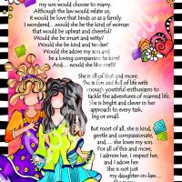 """She Who is My Daughter In Law – 8 x 10 Matted """"Gifty"""" Art Print"""