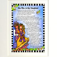 """She Who is My Daughter – 8 x 10 Matted """"Gifty"""" Art Print"""