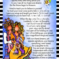 "She Who is My Daughter – 8 x 10 Matted ""Gifty"" Art Print"