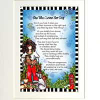"""She Who Love Her Dog – 8 x 10 Matted """"Gifty"""" Art Print"""