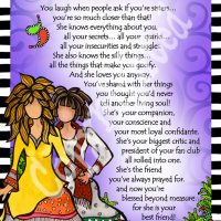 "She Who is My Best Friend – 8 x 10 Matted ""Gifty"" Art Print"