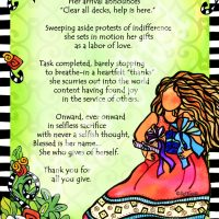 "She Who Gives of Herself – 8 x 10 Matted ""Gifty"" Art Print"